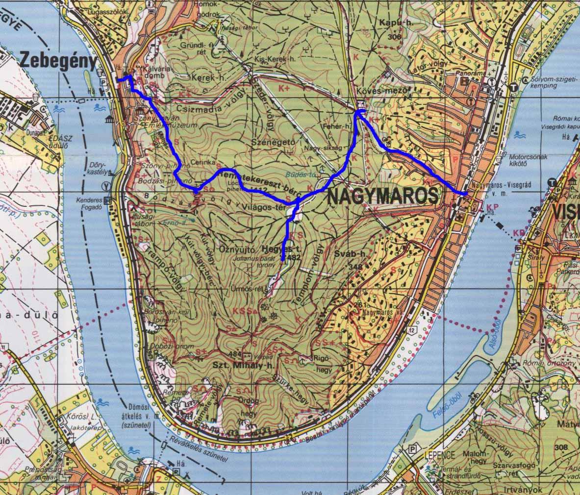 nagymaros térkép Börzsöny   Képtár nagymaros térkép